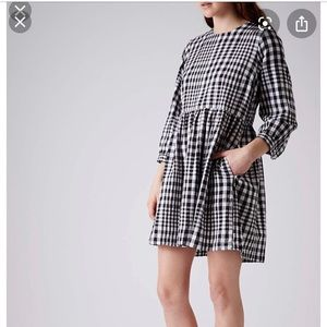 Topshop gingham checkered fit & flare dress 2